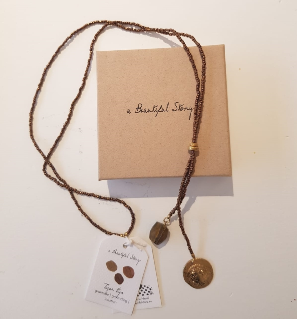 ketting tiger eye a Beautifull Story